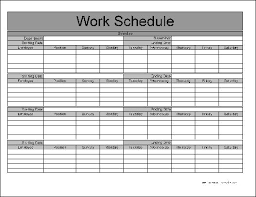 Printable Work Schedule Templates Free Staff Monthly Work Schedule Template