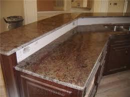 red montana granite kitchen peninsula countertops
