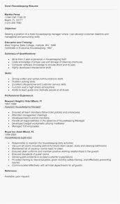 Housekeeping Manager Resume Sample Professional Hotel Housekeeping