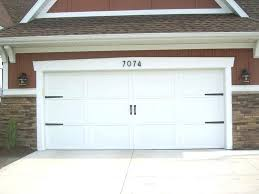 add hardware and street numbers to dress up garage door interior kit signature series decorative carriage