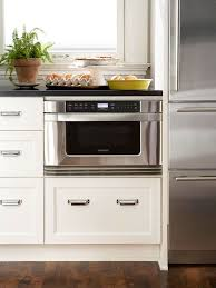 Small built in oven Oven Microwave How To Make Your Microwave Blend Seamlessly Into Your Kitchen Keep The Microwave Down Low Pinterest Spacesaving Kitchen Appliances Kitchen Pinterest Kitchen
