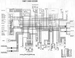 motorcycle manuals kawasaki ex500 ex 500 electrical wiring harness diagram schematic 1987 to 1993