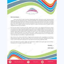 Letterheads Layouts Rainbow Curve Design Letterhead Template Word Layouts