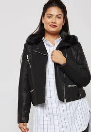 images gallery faux fur collar biker jacket