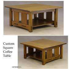 Design a mission coffee table. Craftsman Square Coffee Table By Dryad Studios Coffee Table Coffee Table Square Mission Style End Tables