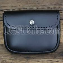 leather belt pouch large