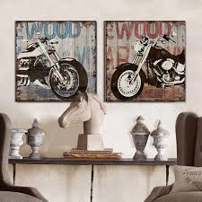 wall street office decor. wall street office decor vintage harley motorcycle canvas art modern home painting the