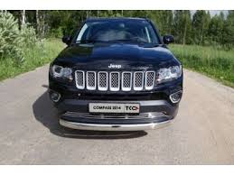 Купить <b>Защита передняя овальная</b> 75-42 мм ТСС для Jeep ...