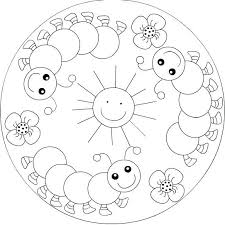 Free Preschool Coloring Pages Spring Spring Mandala Coloring Page