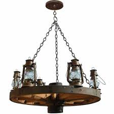 wagon wheel chandelier old western america 1800 s lc521