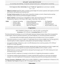 Senior Accountant Resume Sample Samples Career Help Center With
