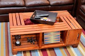 furniture: Awesome Desaign Picture For Diy Wood Crate With Simple Accent  And Streaky Motive Suitable