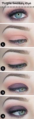 soft purple smoky eye makeup tutorial