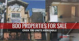 Listing Property For Rent More Than 700 Bdo Foreclosed Properties For Sale In October 2018