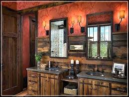 Rustic Bathroom Vanity Lights Extraordinary Tips To Enhance Rustic Bathroom Decor Ideas Western Bathroom Wall