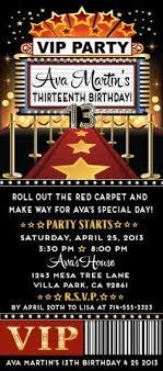 Party Ticket Invitations Unique Red Carpet Star Birthday Party Ticket Invitation Hollywood