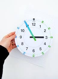 Printable Learning Clock Mini Eco