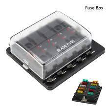 fuse block ebay wiring fuse box automotive universal led illuminated automotive blade fuse holder box 10 circuit fuse block
