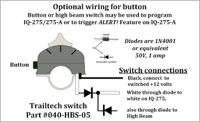iq 275 intelligent lighting controller smart dimmer the horn can also be used as an alert trigger by connecting the hot lead on the horn to the iq 275 a s white wire as shown below