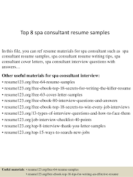 Consulting Cover Letters Cool Top 48 Spa Consultant Resume Samples