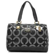 Coach Legacy Logo In Monogram Large Black Luggage Bags BQS