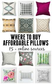 Cheap Decorative Pillows Under 10 Interesting Where To Buy Cheap Throw Pillows For The Home