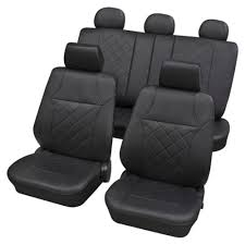 black leatherette luxury car seat cover set for volkswagen tiguan 2007 2016