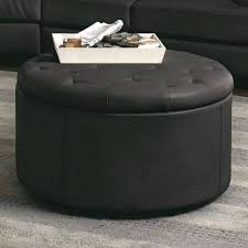 large round leather ottoman coffee table round leather ottoman brown large round leather ottoman coffee table