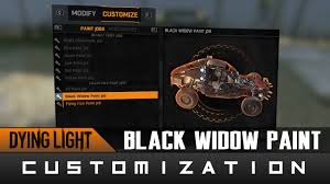 Dying Light The Following Paint Jobs Dying Light The Following Black Widow Paint Job Location Guide