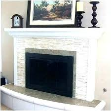 refacing fireplace with tile reface brick over mosaic stone cost
