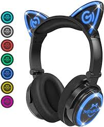 Cat Ear Headphones, <b>LED Foldable Over Ear</b> Bluetooth: Amazon.co ...