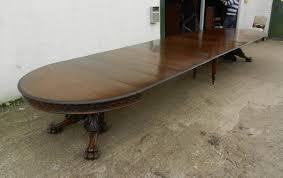 large 4 metre antique oak extending dining table jacobean carved