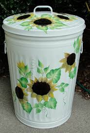 elegant trash can. Beautiful Elegant Sunflower Metal Trash Cans For Organizer Idea Throughout Elegant Can H