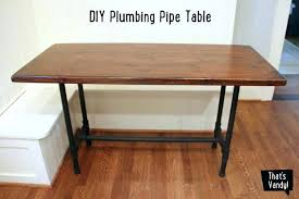wood pipe desk pipe table plumbing leg table pipe table