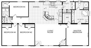 corinth 4 beds 2 baths 1699 sqft 32 x 56 double wide intermediate d homes
