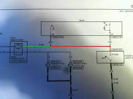 how to fog lights parking lights easy 2004 to 2016 mazda you re taking the green wire and splicing it to the orange wire a jumper my red wire here s the wiring diagram