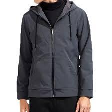 fleece lining soft shell waterproof windproof zip up casual hooded jacket for men