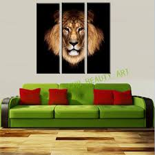 Paintings For Living Room Wall 3 Piece Canvas Art Lion King Picture Print On Canvas Painting Wall