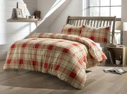 flannelette bedding king size highland tartan check brushed cotton flannelette duvet cover flannelette sheets king size