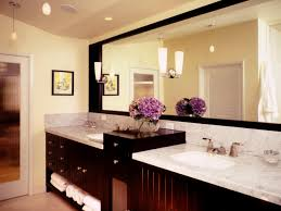 tops lantren bathroom lighting design with dark brown wooden vanity with granite countertops square