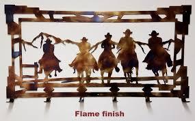 Cowboy Coat Rack New Cowboy Coat Rack Metal Wall Art Silhouette Cowboy And Horse Coat