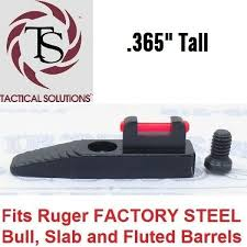details about tactical solutions red fiber optic front sight ruger mark 3 22 45 lite pac lite
