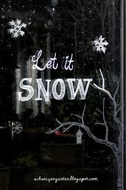 Ein Schweizer Garten Let It Snow Fenstermalereien