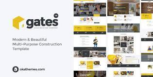 Construction Website Templates Best Gates MultiPurpose Construction Website Template By Okathemes