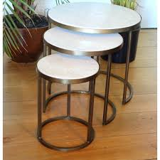 coffee table ideas round nesting white marble tables by madam set of three black glass nest