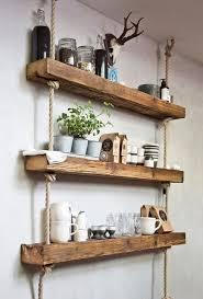 lovely free floating shelves