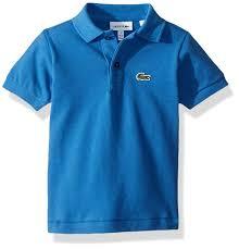 Amazon Com Lacoste Boy Short Sleeve Classic Pique Polo