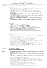 Download Maintenance Reliability Engineer Resume Sample as Image file
