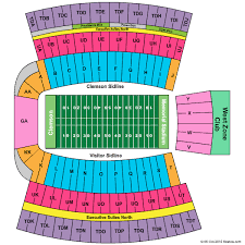 Clemson Memorial Stadium Seating Chart