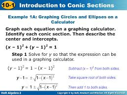 example 1a graphing circles and ellipses on a calculator